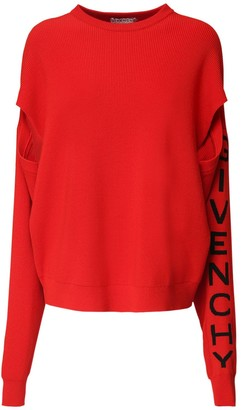 Givenchy Over Knit Wool Blend Sweater W/ Logo