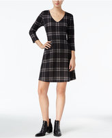 Maison Jules Windowpane Fit & Flare Dress, Only at Macy's