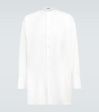 Jil Sander Band collar cotton shirt