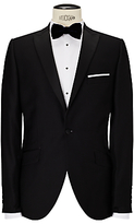 John Lewis Peak Lapel Dress Suit Jacket, Black