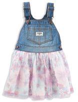 OshKosh Baby B'gosh® Denim and Floral Print Skortall in Pink/Blue