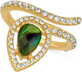 Rachel Roy Gold-Tone Abalone-Look and Pave Wrap Ring
