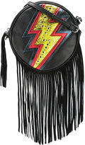 Just Cavalli lightning print crossbody bag - women - Calf Leather/Suede - One Size