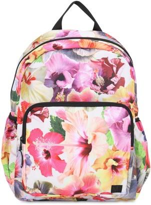 Molo Flower Print Nylon Canvas Backpack
