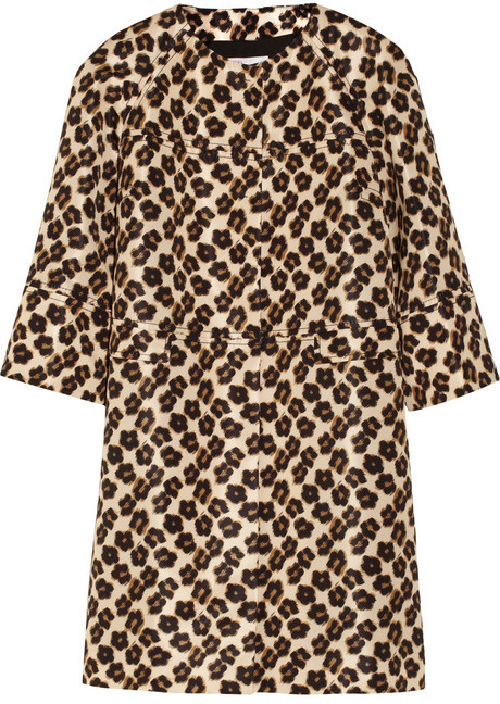 RED Valentino Leopard-print faille coat
