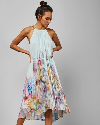Ted Baker Hanging Gardens Pleated Midi Dress