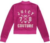 Juicy Couture Girls Logo Velour Couture 78 Westwood Jacket