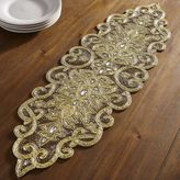 Pier 1 Imports Golden Glitz Beaded Table Runner