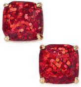 Kate Spade Gold-Tone Glitter Square Stud Earrings