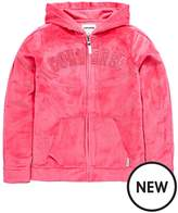 Converse Girls Full Zip Velour Hoody