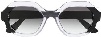 Emmanuelle Khanh Octagon Gradient Sunglasses