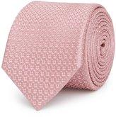 Reiss Ishia - Dotted Silk Tie in Pink, Mens