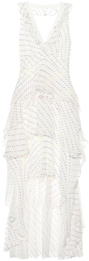 Diane von Furstenberg Bess embroidered chiffon dress