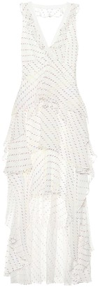 Diane von Furstenberg Bess embroidered chiffon dress