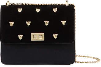Neiman Marcus Gueni Flap-Top Studded Shoulder Bag