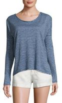 Joie Faya Drop Shoulder Striped Linen Tee