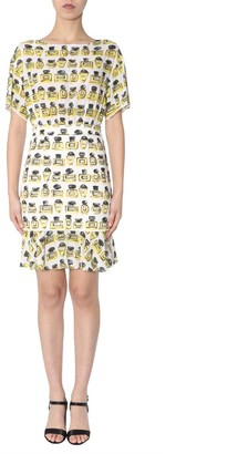 Boutique Moschino Printed Ruched Dress