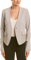 Thumbnail for your product : My Tribe Laure Leather-Trim Blazer