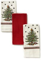 Spode Holiday Red Christmas Tree Kitchen Towel, Set of 3