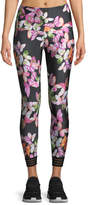 Onzie Ritz Butterfly-Print 7/8 Leggings with Contrast Cuff