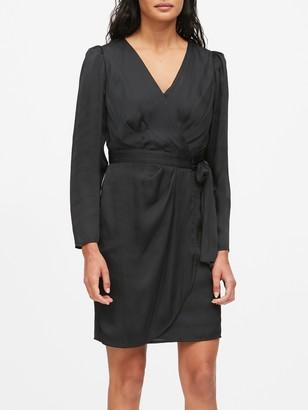 Banana Republic Puff-Sleeve Wrap Dress