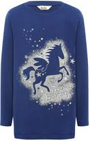 M&Co Unicorn print long sleeve pyjama top