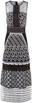 Jonathan Simkhai Black & White Organza Embroidered Gown