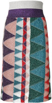 Missoni lurex print pencil skirt
