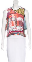 Clover Canyon Butterfly Print Cutout Top w/ Tags