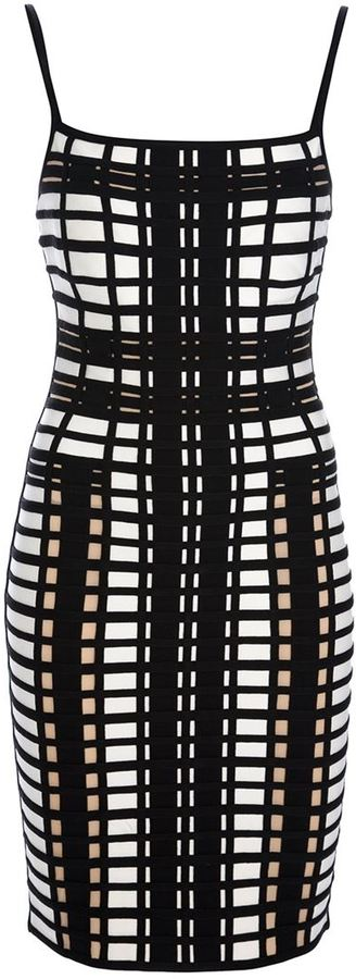 Herve Leger printed fitted dress