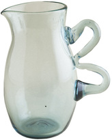 Recycled Glass Pitcher with Handle