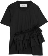 Marques Almeida Marques' Almeida - Ruffled Stretch-jersey T-shirt - Black
