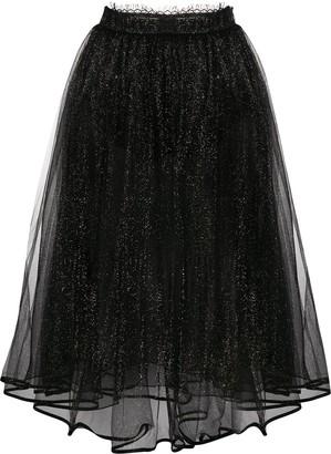 Elisabetta Franchi Glitter Tulle Skirt
