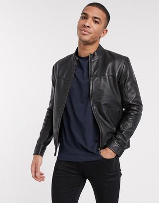 Barneys New York racer leather jacket