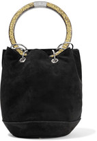Edie Parker Olivia Small Suede Tote - Black