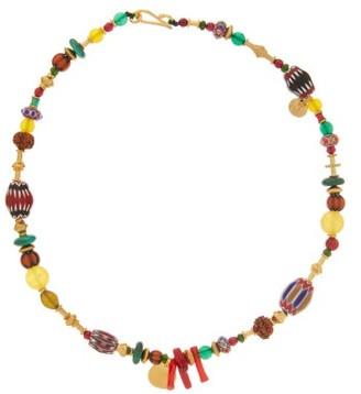 Katerina Makriyianni - Beaded 24kt Gold-plated Sterling-silver Necklace - Multi