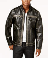 INC International Concepts Men's Two-Tone Faux-Leather Bomber Jacket, Created for Macy's
