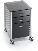 Innovex Glass Top File Cabinet - Black Tint