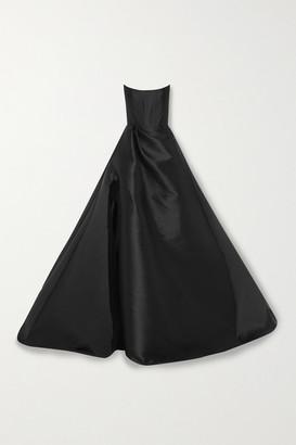 Alex Perry Denver Strapless Satin Gown - Black