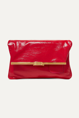 BIENEN-DAVIS Pm Glossed Textured-leather Clutch - One size