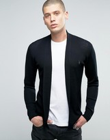 AllSaints Open Drape Cardigan in Merino Wool