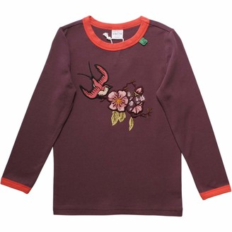Green Cotton Fred's World by Girl's Bird Front T T-Shirt