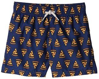 Appaman Kids Mid Length Swim Trunks (Infant/Toddler/Little Kids/Big Kids) (Pizza Party) Boy's Swimwear