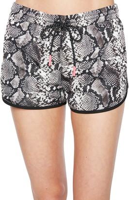 Pam & Gela Snakeskin Print Dolphin Shorts
