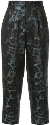 Biyan tapered floral trousers