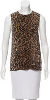 Dolce & Gabbana Keyhole-Accented Leopard Print Top