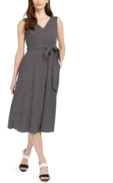 Calvin Klein Zigzag-Print Fit & Flare Midi Dress