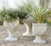 Pottery Barn Fluted Urn Planter