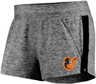 Möve Women's Fanatics Branded Heathered Gray/Black Baltimore Orioles Made To Running Shorts
