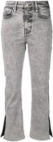 Proenza Schouler White Label PSWL Colorblock Split Denim Jeans